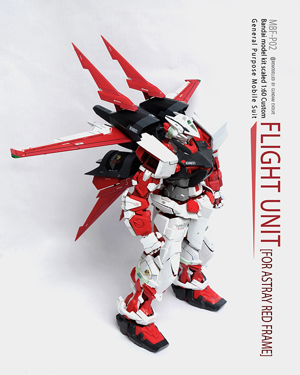 [1805] Custom Build Flight Unit for 1/60 PG Astray Red Frame